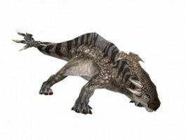 Dinosaur monster 3d model preview