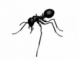 Black ant 3d model preview