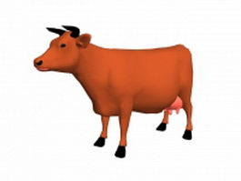Milking cattle 3d preview