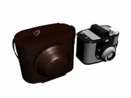 Digital camera with case 3d model preview