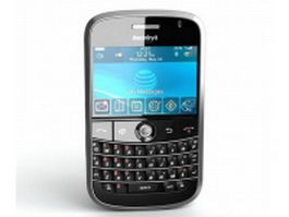 Blackberry mobile phone 3d model preview