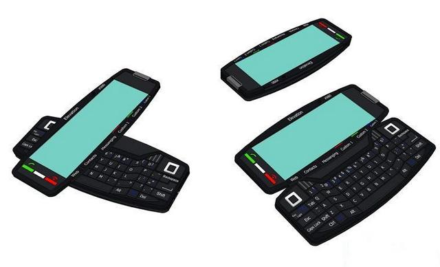 Qwerty keyboard smartphone 3d rendering