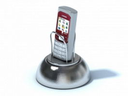 Mobile phone with metal phone holder 3d preview