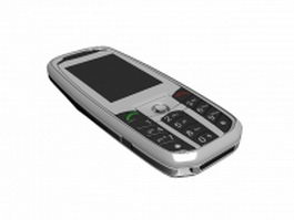 Feature phone 3d model preview