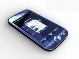 Samsung i8000 smartphone 3d model preview