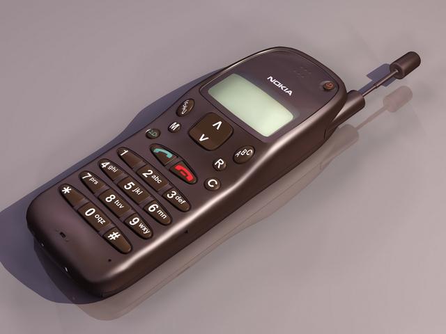 Older cell phone 3d rendering