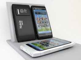 Nokia N8 smartphone 3d preview