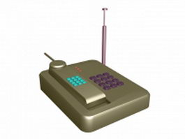 Low poly cordless phone 3d preview