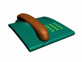 Blue telephone 3d model preview