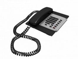 Office desk phone 3d model preview