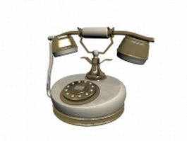 Vintage rotary dial telephone 3d preview