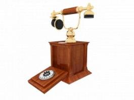 Antique phone 3d model preview