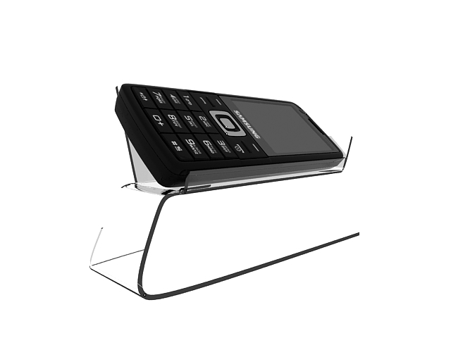 Samsung phone with cell phone holder 3d rendering