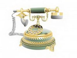Luxury vintage telephone 3d model preview