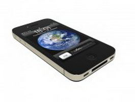 iPhone 4 smartphone 3d preview