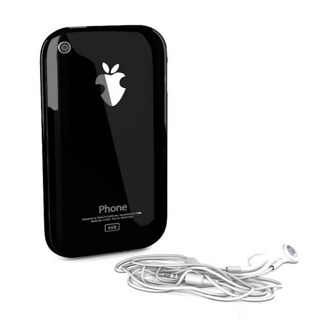 iPhone 5 with earphone 3d rendering