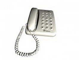 White telephone 3d preview