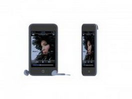 iPod Touch with earphone 3d preview