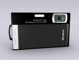 Sony DSC-T300 digital camera 3d model preview