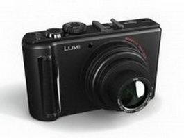 Panasonic Lumix digital camera 3d model preview