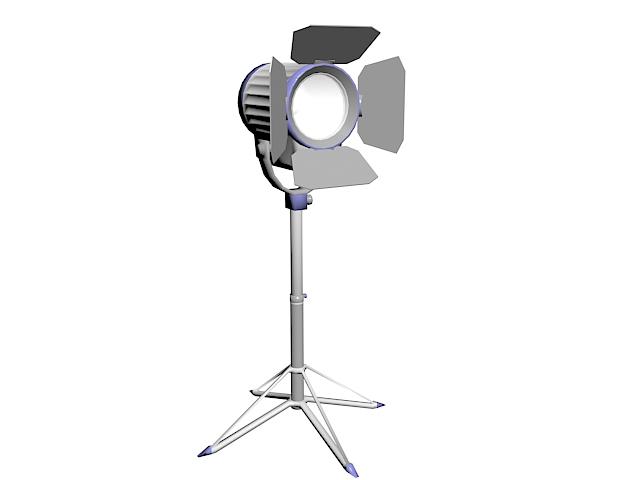 Tripod photography lighting 3d rendering