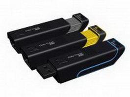 USB flash drives 3d preview