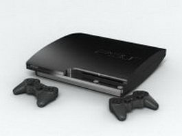 Sony PlayStation 3 3d model preview