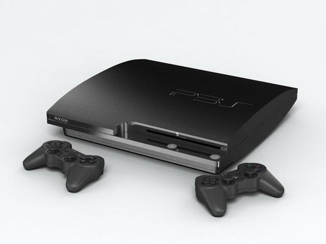 Sony PlayStation 3 3d rendering