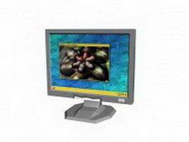 LCD monitor 3d model preview