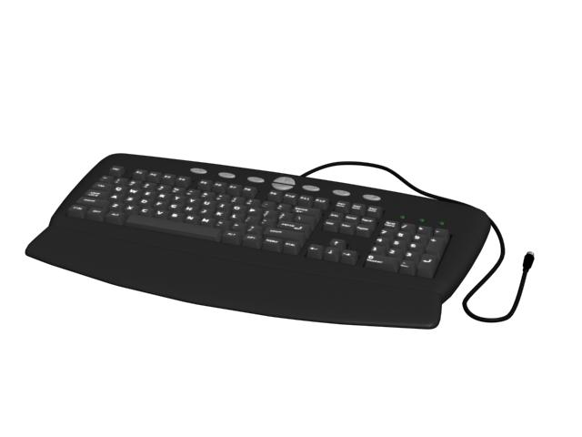 104-key PC US English QWERTY keyboard 3d rendering