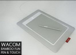 Wacom Bamboo capture tablet and pen 3d model preview