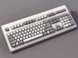 Standard alphanumeric keyboard 3d preview