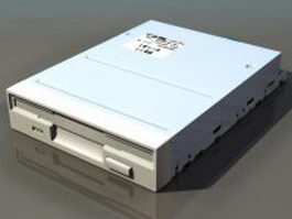 Floppy disk drive 3d preview