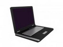 Portable laptop 3d model preview