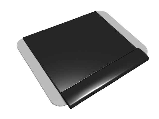 Square mouse pad 3d rendering