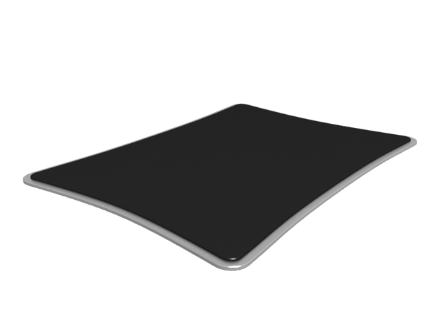 Fabric-surface mousepad 3d rendering