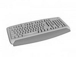 Ergonomic keyboard 3d model preview