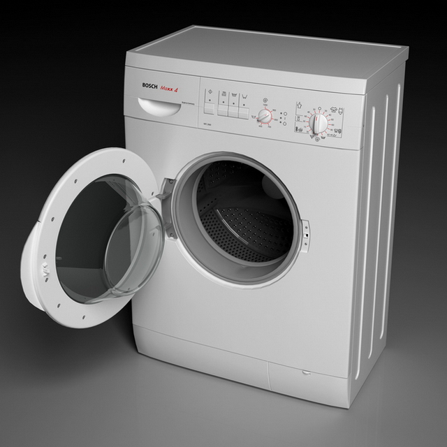 BOSCH Washing Machine 3d Model 3ds Max Files Free Download