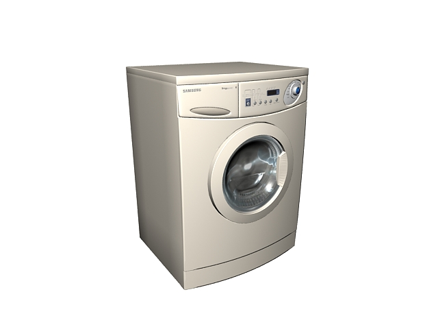 Samsung washer and dryer 3d rendering