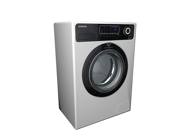 Samsung electric dryer 3d rendering
