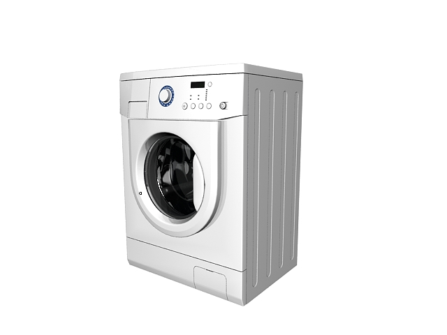 Home laundry machine 3d rendering