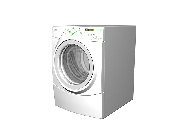 Washing machine and dryer 3d rendering