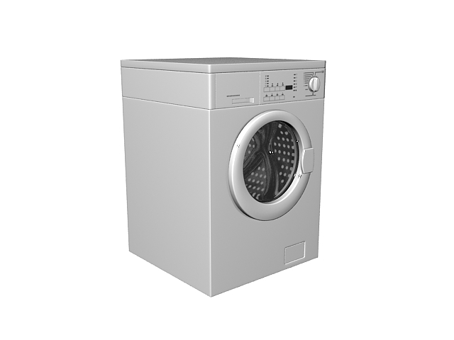 Clothes washers and dryer 3d rendering
