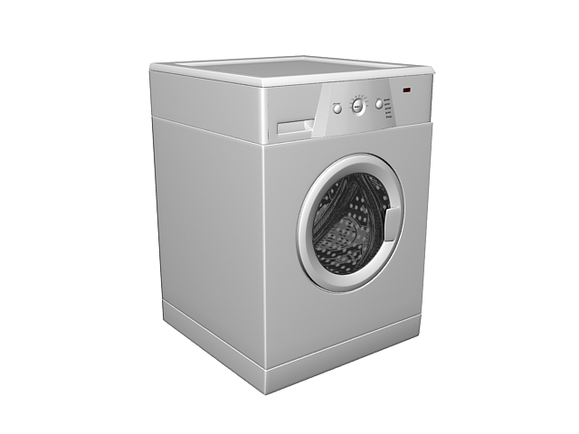 Whirlpool washer 3d rendering