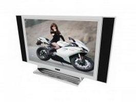 Sony HD TV 3d model preview