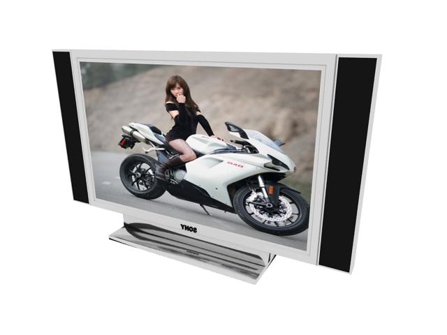Sony HD TV 3d rendering