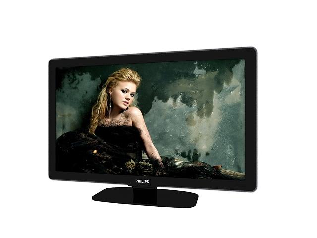 Philips tv flat screen 3d rendering
