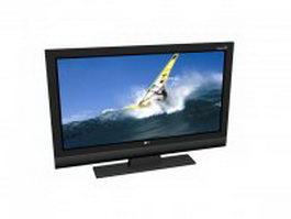 LG Xcanvas LCD TV 3d model preview