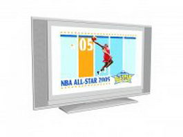 Flat Screen Tv 3d model preview