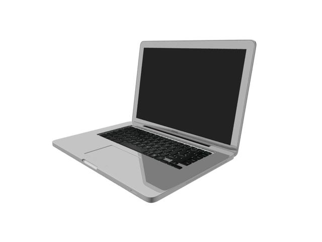 Silver notebook computer 3d rendering